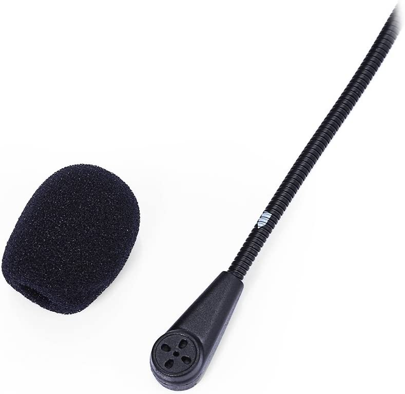 RETYLY Micr/ófono Altavoz Cable Suave Accesorio para Auriculares para Casco De Motocicleta Interfono Intercomunicador