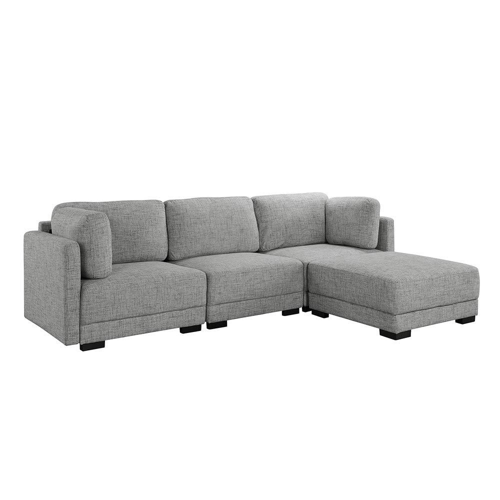 Amazon.com: Casa Andrea Milano - Sofá seccional de lino con ...