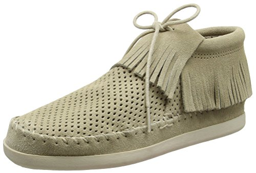 Minnetonka Womens Venice Perf Boot Stone Perforated Suede 0y1eWQ5
