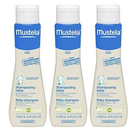 Mustela Bebe Baby Shampoo 6.76 fl oz (200 ml) - 3 Pack