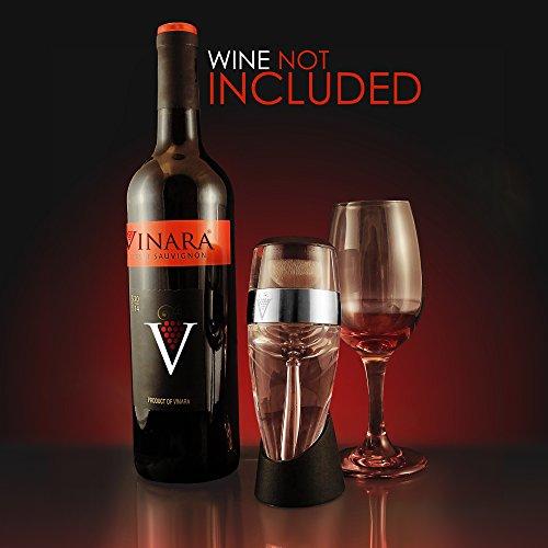 Vinara Wine Aerator Decanter Pourer, Clear