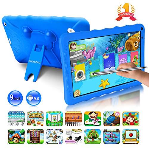 🥇 Tablet para Niños con WiFi 9.0 Pulgadas 3GB RAM 32GB/128GB ROM Android 9.0 Pie Certificado por Google GMS Tablet Infantil 1.5Ghz Quad Core Batería 6000mAh Tablet PC Netflix Juegos Educativos