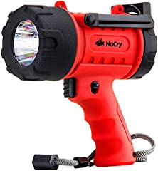 If you only keep one flashlight around the house, it should be this one.The NoCry Rechargeable Flashlight / Spotlight is extremely versatile with its powerful 1,000 lumen LED bulb with 3 brightness settings: High (1,000 lumens), Medium (500 l...
