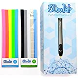 3Doodler 2.0 FOUR PIECE BUNDLE: 3doodler 2.0 3d Printing Pen + 75 Strands of 3Doodler Plastic Filament (25 PLA + 25 ABS + 25 Glow in the Dark) + 3doodler 2.0 DoodleStand + 3doodler 2.0 Nozzle Set!