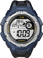 Timex Men's T5K593 1440 Sports Digital Full-Size Blue/Black Resin Strap Watch from Timberland
