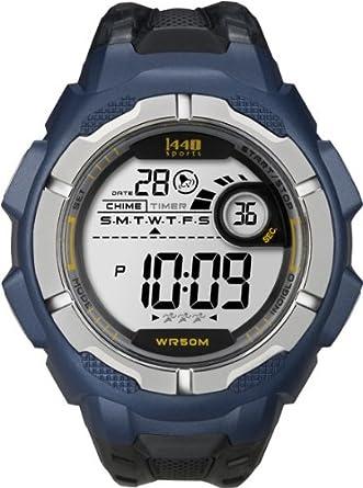 amazon com timex men s t5k593 1440 sports digital full size blue rh amazon com Vintage Timex Indiglo Watch Timex Expedition Alarm Watch