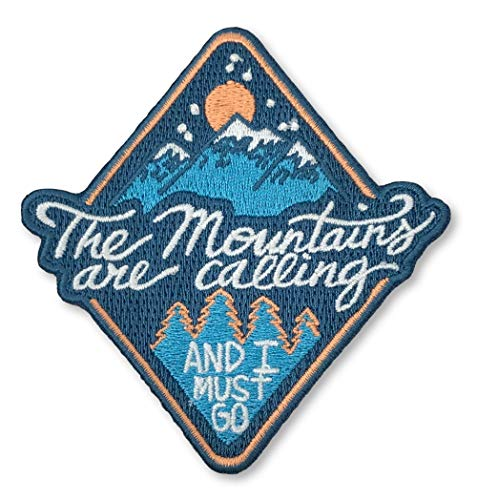 O'Houlihans - The Mountains are Calling and I Must Go Iron on Patch - Hiking, Camping, Travel, Adventure Patch