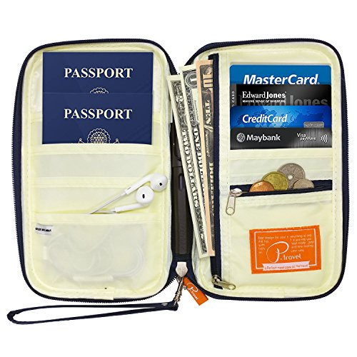 P.travel Passport wallet Oxford Navy with RFID Stop by P.travel (Image #4)