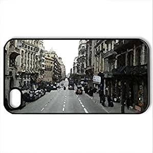 Zheng caseZheng caseBarcelona - Case Cover for iPhone 4/4s and 4s (Skyscrapers Series, Watercolor style, Black)