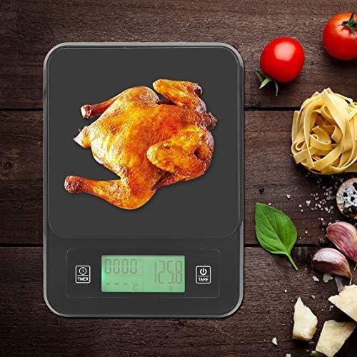 Bilancia elettronica, 3Kg/0.1g Cucina elettronica Portatile Mini Cottura Bilancia per alimenti Peso con sonda di temperatura per cottura, cottura e dieta