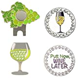Giggle Golf Bling White Wine Golf Ball Marker Pack