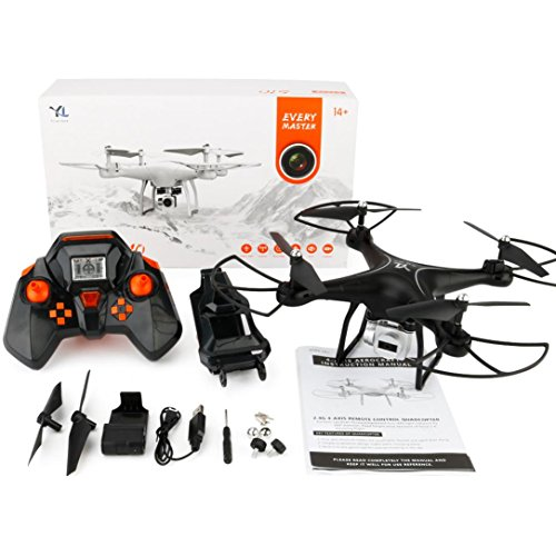 Dreamyth S10 2.4Ghz Quadcopter Camera WIFI FPV Headless Mode Altitude Hold RC Drone (black) by Dreamyth