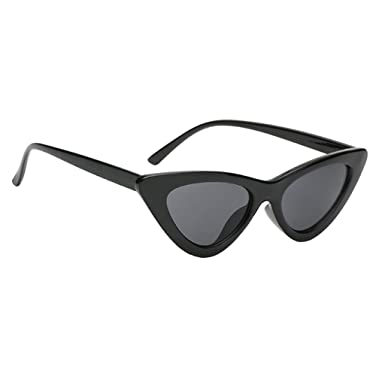 3e6a5af9772a MagiDeal Women Girls Ladies Vintage Cateye Triangle Frame Sunglasses Glasses  UV400 - black, as described