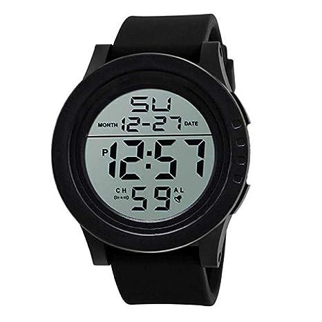 Scpink Reloj digital resistente al agua, reloj de pulsera militar y deportivo para hombre con