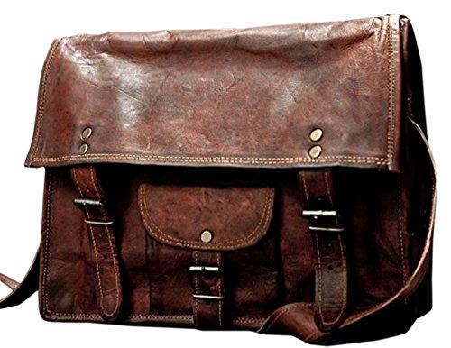 Phoenix Craft Vintage Leather Messenger Bag Handmade Crossbody Shoulder Bag women purse Handbag 13x10x4 inches Christmas gifts