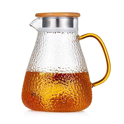 Glass Pitcher Jug, Ice Teapot Large Capacity Durable Very Suitable For Juice Tea Drinks Outdoor Garden Gifts For Family wine coffee milk and juice beverage carafe
