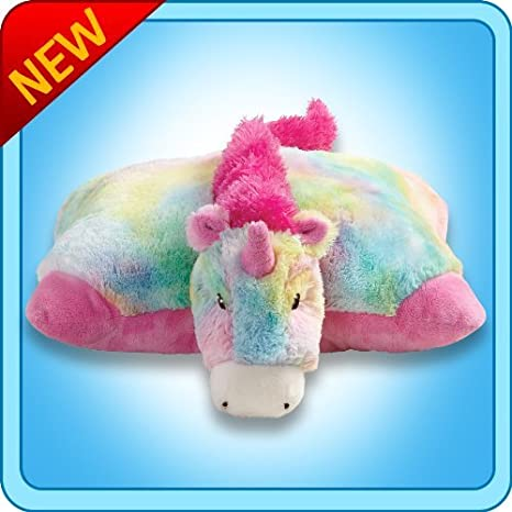 amazon com pillow pets premium® rainbow unicorn pee wee \u2013 11amazon com pillow pets premium® rainbow unicorn pee wee \u2013 11\u201d small folding plush pillow toys \u0026 games