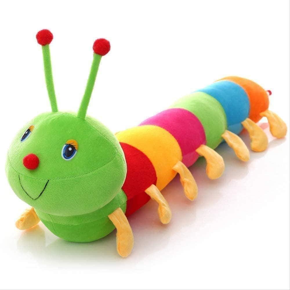 N/C Felpa cognitiva Larga Colorida 50 cm muñeca de Felpa rellena Suave Gusano Almohada Regalo Educativo para cumpleaños