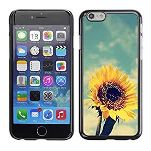 Cubierta de la caja de protección la piel dura para el Apple iPhone 6 (4.7) - summer warm vignette yellow
