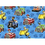 Paw Patrol Rescue Cars Fabric Sold by the Yard