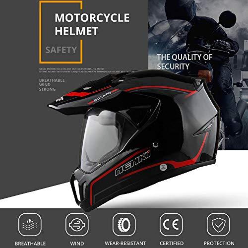 Motorcycle Full Face Helmet, Racing Scooter Bicycle Solid Motocross Off-Road ATV Street Helmets