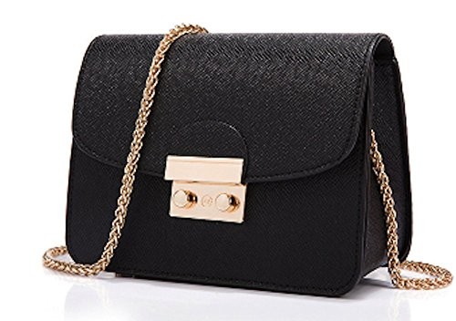 AIK Small Evening Bags for Women Crossbody Bag Chain Shoulder Clutch Purse Formal Bag (Black) by AIK