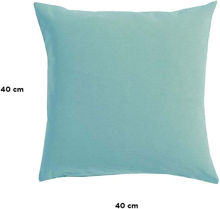 Linum Annabell Elegant Cushion Cover For Throw Pillow Machine Washable Cotton Dusty Turquoise 40 X 40 Cm Amazon Co Uk Kitchen Home