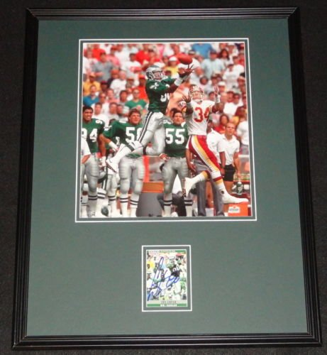 Cris Carter Signed Framed 16x20 Photo Display Eagles Ohio State Vikings (Carter Photograph Cris)