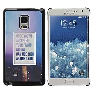 rígido protector delgado Shell Prima Delgada Casa Carcasa Funda Case Bandera Cover Armor para Samsung Galaxy Mega 5.8 9150 9152 -Text Motivational Quote Purple-