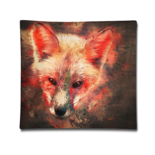 Kjaoi 1818 Inches Pillow Case Fire Fox Comfortable Soft Bed Pillow Case Household Pillow Case Office Bolster