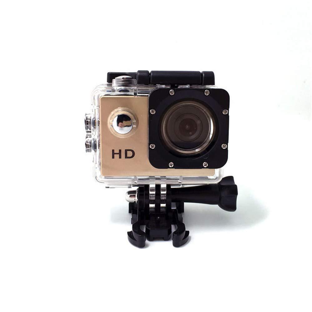 Ergou Acción cámara 1,5 Pulgadas Deportes cámara Impermeable cámara Deportes DVR conducción Grabador Antena 1080p al Aire Libre cámara, de Oro: Amazon.es: ...