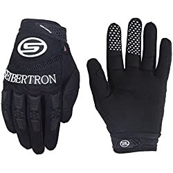 Seibertron Dirtpaw Men's BMX MX ATV Racing Gloves Bicycle MTB Racing Off-Road/Dirt Bike Sports Gloves Black XL