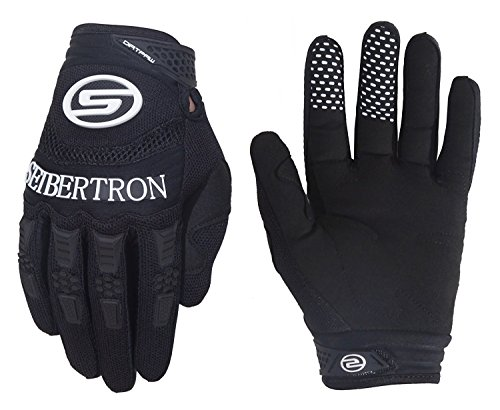 Seibertron Dirtpaw Men's BMX MX ATV Racing Gloves Bicycle MTB Racing Off-road/Dirt bike Sports Gloves Black (Dirtpaw Bike Glove)