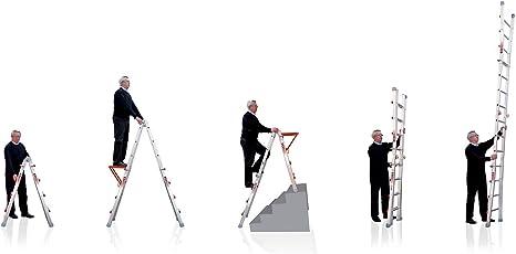 Wakü - Escalera telescópica (1,57 - 5,30 m): Amazon.es: Hogar
