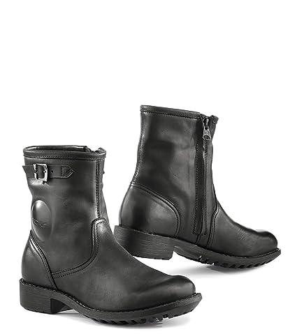 483281780c77c Amazon.com: TCX Boots 7210W-NERO-41 Black Size 41/Size 9 Lady Biker ...