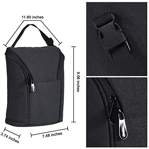 Breast Milk Baby Double Bottle Bag, Insulated Cooler Tote Keep Breast Milk Cold or Warm for Women,Men, and Kids (black) by Sanne (Image #1)