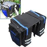 Bicycle Luggage Bags Bike Rear Rack Carrier Bag Cycling Outdoor Waterproof Storage Double Bags Fusheng