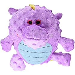 goDog Dragons Grunters Plush Dog Toy with Chew Guard Technology, Large, Violet