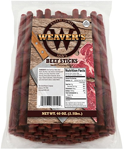 Weaver's Beef Sticks (80 original mild flavored 6.5