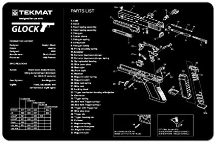 Cool Amazon Com Tekmat Glock Gun Cleaning Mat 11 X 17 Thick Durable Wiring 101 Capemaxxcnl