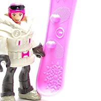 Figuras coleccionables Imaginext de Fisher-Price serie 4 - Snowboarder Girl