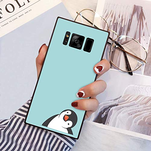 Penguin Samsung Galaxy S8 Plus case Protective Square Phone Shockproof Black TPU Silicone case for Samsung Galaxy S8 Plus