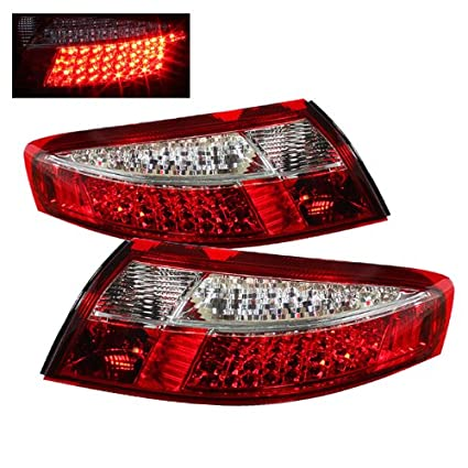 For 1998-2004 Porsche 911 996 Carrera GT Turbo Red Clear Lens Full LED Tail