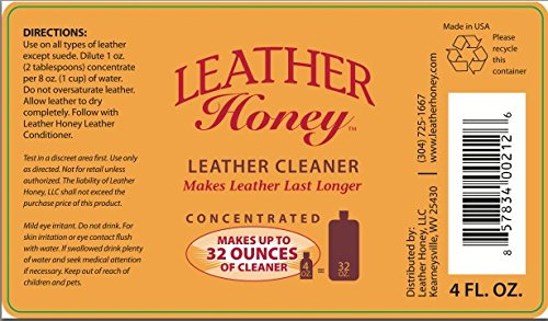 Leather-Cleaner-by-Leather-Honey-The-Best-Leather-Cleaner-for-Vinyl-and-Leather-Apparel-Furniture-Auto-Interior-Shoes-and-Accessories-Concentrated-Formula-Makes-32-Ounces-When-Diluted