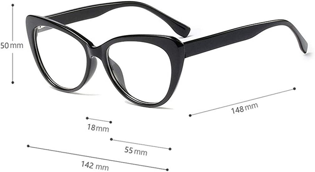Y19110803 Yying Transparente Linse Brillen Lesebrille Dekor Mode Geek//Nerd Retro Brillen f/ür M/änner Frauen