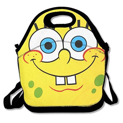 LIUYAN Personalized Lunchbox Cartoon Spongebob Squarepants Picnic Lunch Bag for Boys Girls Kids ()
