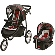 Graco Fastaction Fold Jogger Click Connect Travel System, Chili Red, One Size