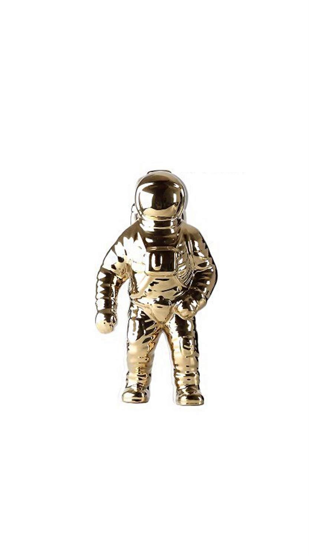 TYZP セラミック工芸宇宙飛行士宇宙飛行士モデルデスクトップジュエリーキャラクタークリエイティブデコレーション (色 : ゴールド, サイズ さいず : L l) B07S4NGGSD ゴールド L l
