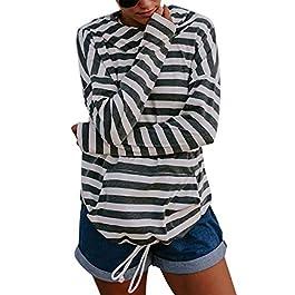 JINTING Striped Hoodie Swaetshirts Women Hooded Sweatshirt Long Sleeve Lightweight Hoodie Sweatshirt Pullover with Pocket