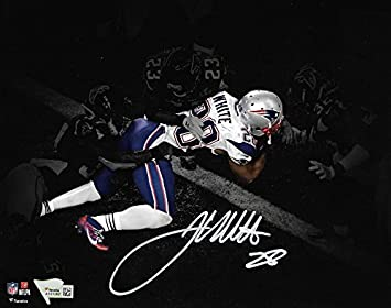 31fbdfcb8b1 James White New England Patriots Signed Autographed Spotlight 8x10 Photo GW  TD